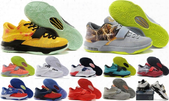 Wholesale Kevin Durant Kd 7 Men Basketball Shoes Retro Kd7 Sports Shoes Athletic Running Shoes High Quality With Standout Midsole 5-7-12-13