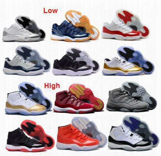 Wholesale Metallic Gold Olympic Air Retro Low 11 Retro 11s Hot Sale Free Shipping Basketball Shoes Men And Women