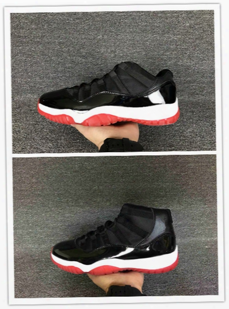 Wholesale New Air Retro 11 Xi High Bred Black Red Men Basketball Shoes Women Low Cut Sports Sneaker Trainers Free Shipping Size 36-47