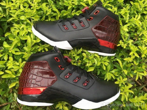 Wholesale Xvii 17 Retro 17 Bred Bull Men's Sports Basketball Shoes 17 Copper White Sport Shoes Size 41-46