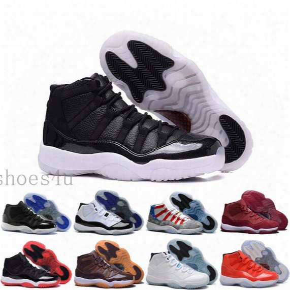 [with Box] Ew Wine Red Retro Xi 11 Mens Basketball Shoes Sneaker Outdoor Velvet Heiress 11s High Quality Winter Boots Trainer Discount