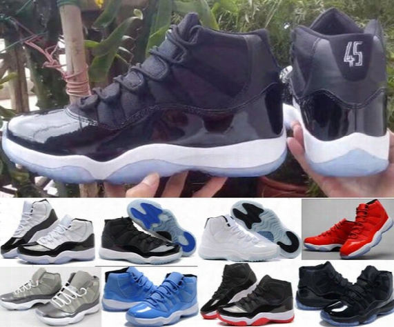 """With Box + Number """"45"""" """"23"""" Retro 11 Xi Spaces Jams Basketball Shoes For Women Men Top Quality Airs 11s Athletic Sport Sneakers Size 36-47"""
