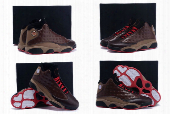 (with Box) Wholesale 2015 New High Quality Retro 13 Xiii Cigar Custom By Men's Basketball Sneakers Trainers Shoes