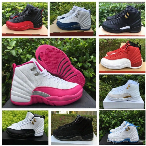 Women Retro 12 Gs Hyper Violet Youth Pink Valentines Day 12s Plum Fog Flu Game Basketball Shoes Girls Master Taxi Sneakers Wholesale Shoe