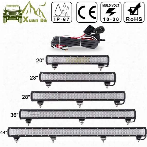 """Xuanba 12"""" 72w 28"""" 180w Led Light Bar For 4x4 Off Road Truck Suv Atv Boat Car Tractor 4wd 12v 24v Combo Beam Led Work Offroad Bar Lights"""