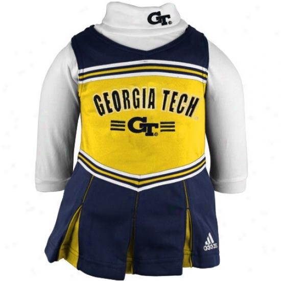 Adidas Georgia Tech Yellow Jackets Two-piece Cheerleader Dress