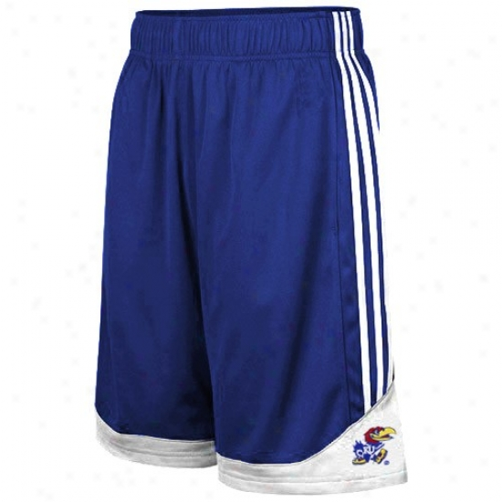 Adidas Kansas Jayhawks Youth Royal Blue Pre-game Mesh Basketball Shorts