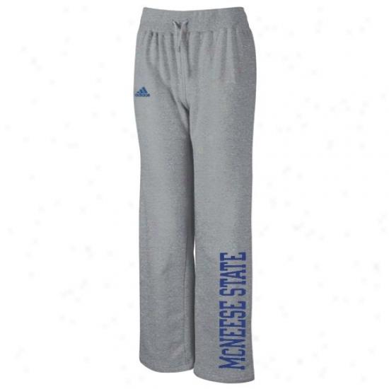 Adidas Mcneese State Cowboys Ladies Ash Word Plus Fleece Pants