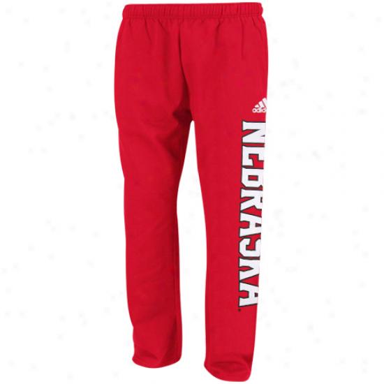 Adidas Nebraska Cornhuskers Preschool Scarlet Word Plus Fleece Sweatpants