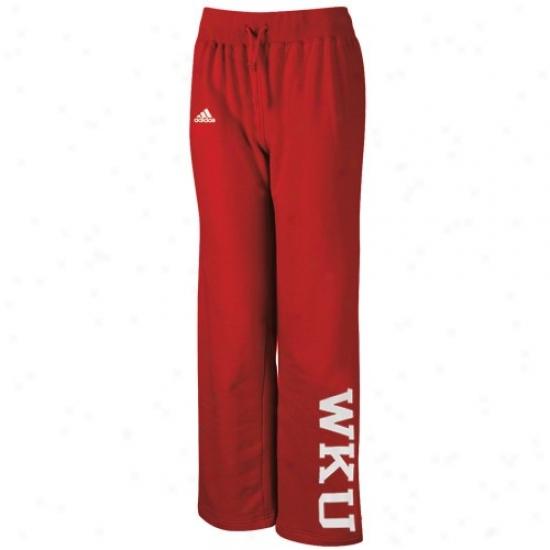 Adidas Western Kentucky Hilltoppers Ladies Red Word Plus Fleece Pants