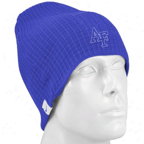 Gas Force Falcons Hat : Nike Air Force Falcons Royal Blie Third And Long Join Beanie