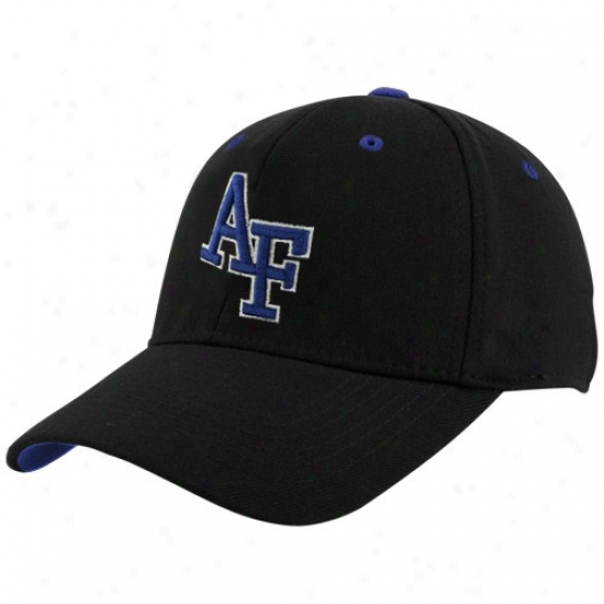 Air Force Falcohs Cardinal's office : Top Of The World Air Force Falcons Black Basic Logo 1-fif Hat