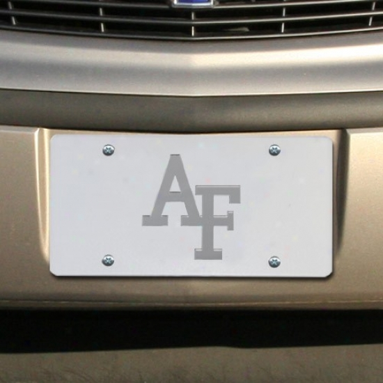 Air Force Falcons Satin Mirrored Team Logo License Plate