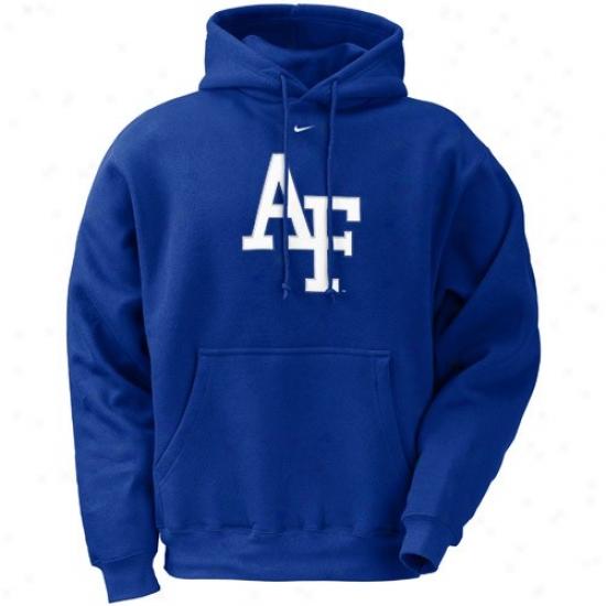Air Force Falcons Sweatshirt : Nike Air Force Falcons Royal Blue Classic Logo Sweatshirt