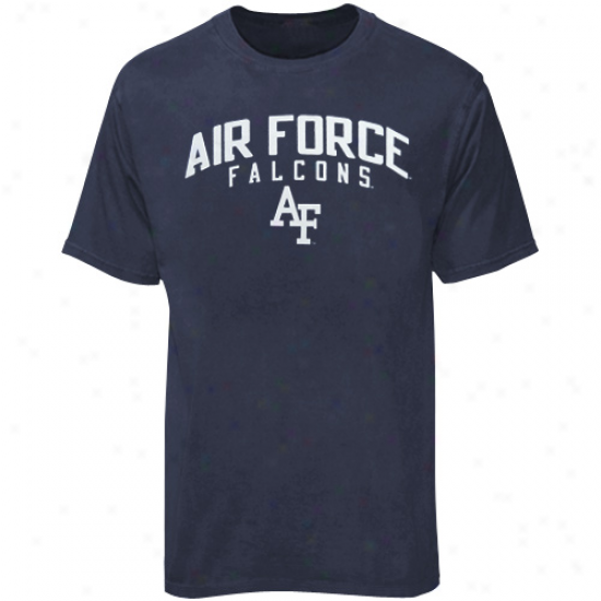 Air Force Falcons T Shirt : Adidas Air Force Falcons Navy Blue Pigment Dyed T Shirt
