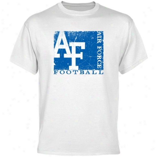 Air Force Falcons T Shirt : Air Force Falcons White Amusement Stamp T hSirt