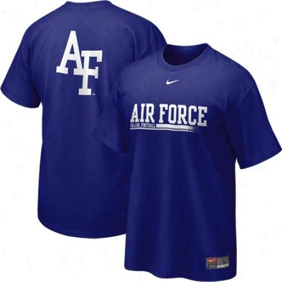 Air Force Falcons T-shirt : Nike Air Force Falcons Royal Blue 2010 Practice T-shirt
