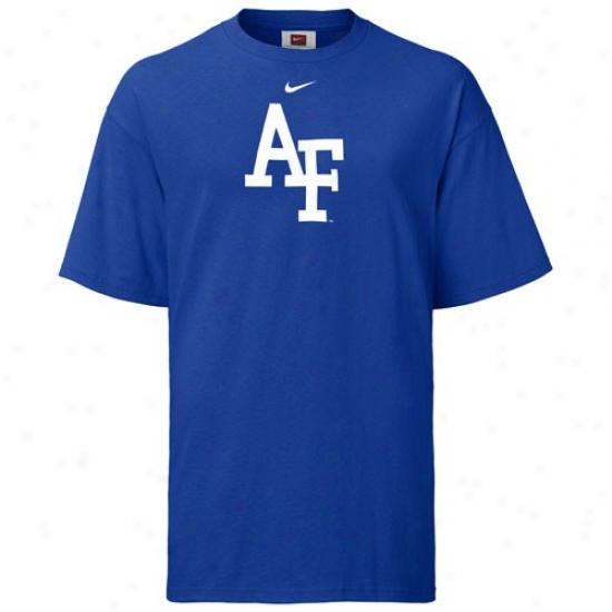 Air Force Falcons Tees : Nike Air Force Falcons Royal Blue Classic Logo Tees