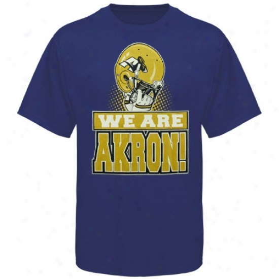 Akron Zips Apparel: Akron Zips Navy Blue We Are Zips T-shirt