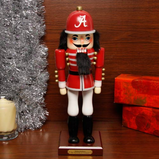 Alabama Crimson Tide 14'' Wooden Nutcracker