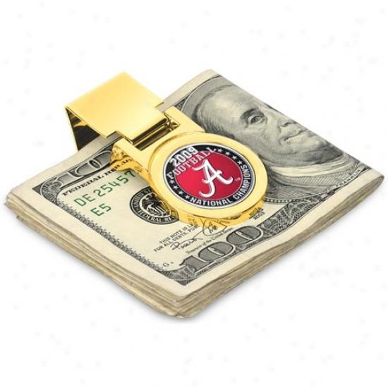Alabama Crimson Tide 2009 Bcs National Champions Gold Money Clip