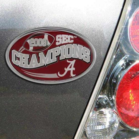 Alabama Crimson Tide 2009 Sec Champions Auto Emblem