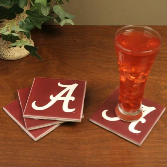 Alabama Crimson Tide 4-pack Ceramic Coasters