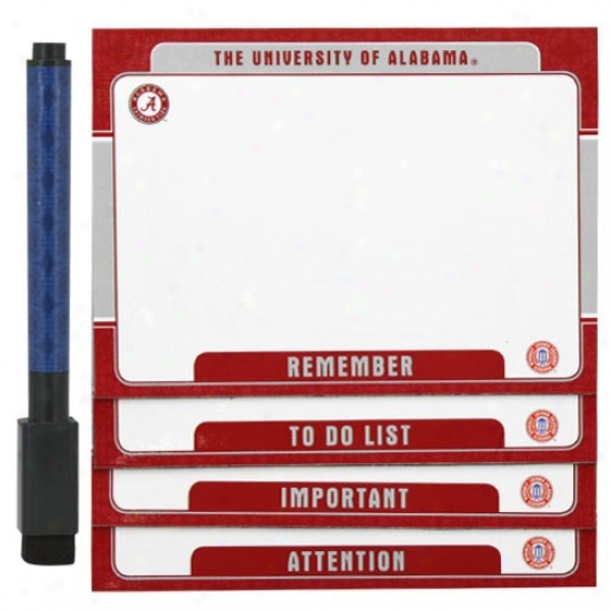 Alabama Crimson Tide 4-pack Magnetic Dry-erqse Boards