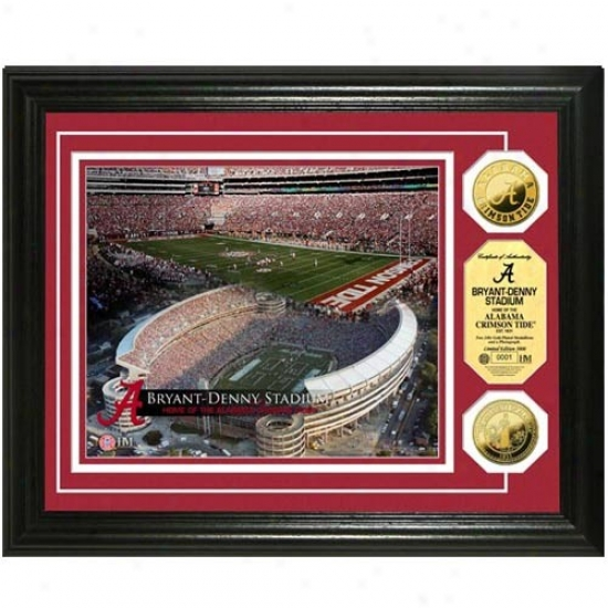 Alabama Crimson Tide Bryant-denny Stadium 24kt Gold Corner Photomint