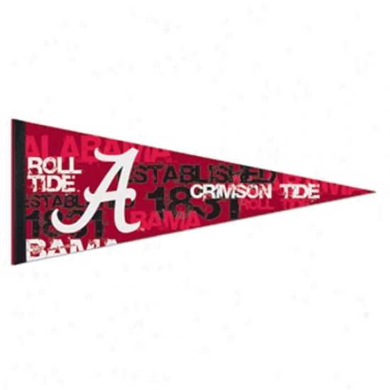 Alabama Crimson Tide Crimson 12'' X 30'' Premium Felt Pennant
