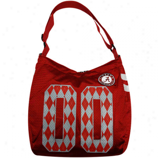 Alabama Crimson Current Crimson Argyle Preppy Jersey Tote Bag
