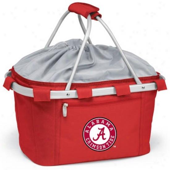 Alabama Crimson Tide Crimson Metro Insulated Picnic Basket