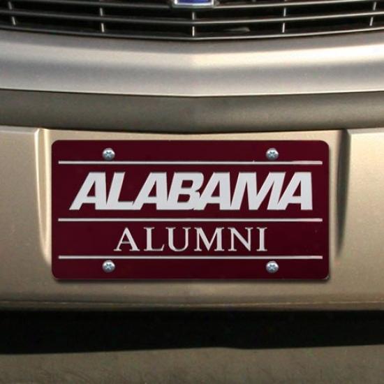 Alabama Crimson Tide Crimson Mirrored Alumni License Plate