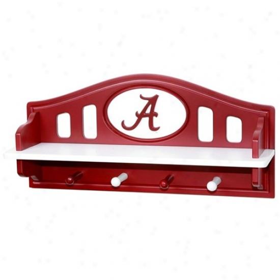 Alabama Crimson Tide Crimson Shelf With Pegs