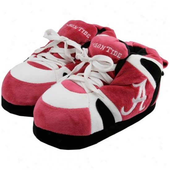 Alabama Crimson Tide Crimson Sneaker Slippers