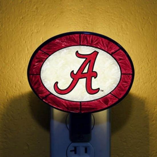 Alabama Crimson Tide Hand-painted Glass Nightlight