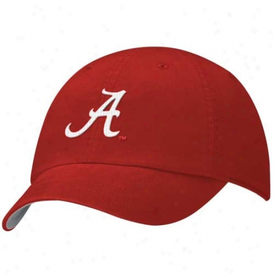 Alabama Crimson Tide Hats : Nike Alabama Crimson Tide Ladies Crimson Campus Adjustable Hats