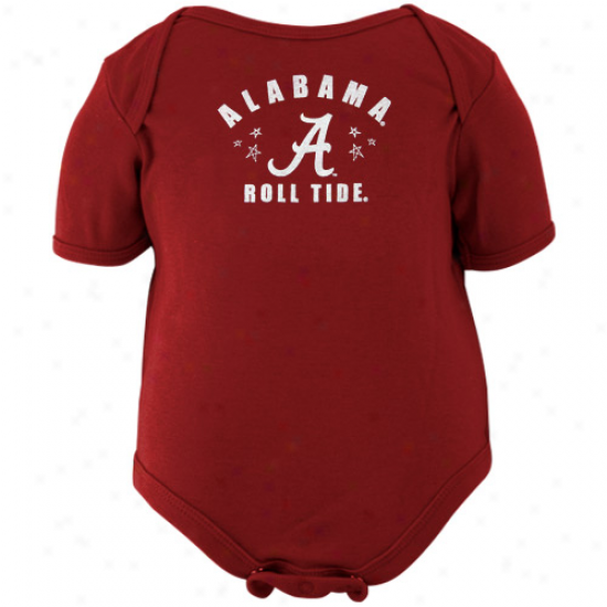 Alabama Crimson Tide Infant Crimson Lil' Starter Creeper