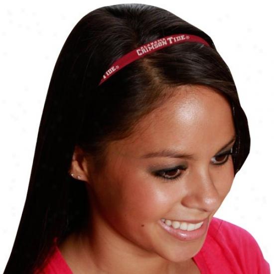 Alabama Crimson Tide Ladies 3-pack Elastic Headbands