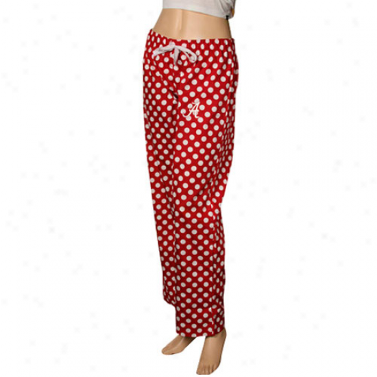 Alabama Crimson Tide Ladies Crimson Galaxy Pajama Pants