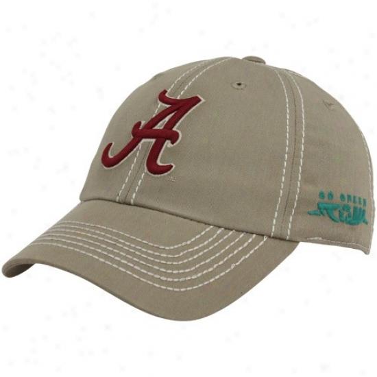 Alabama Crims0n Tide Merchandise: Top Of The World Alabama Crimson Tide Khaki Eco-crew Adjustable Hat
