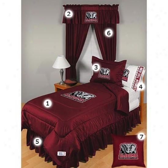Alabama Crlmson Tide Queen Size Locker Room Bedroom Ste