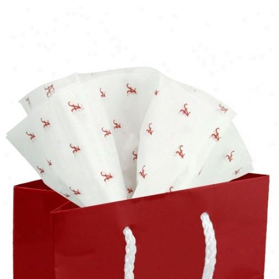 Alabama Crimson Tide White Team Wordmark Print Tissue Paper