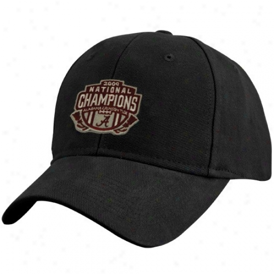 Alabama Merchandise: Alabama Youth Black 2009 Bcs National Champions Champs Patch Adjustable Cardinal's office
