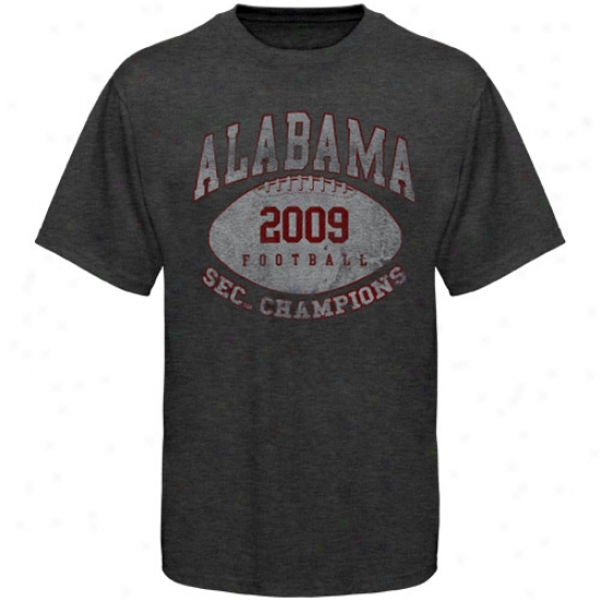 Alabama Shirts : Alabama Chsrcoal 2009 Sec Champions Heathered Vintage Shirts