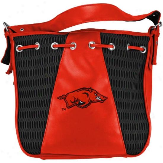 Alan Sguart Arkansas Razorbacks Athletic Mesh Drawstring Shoulder Bag