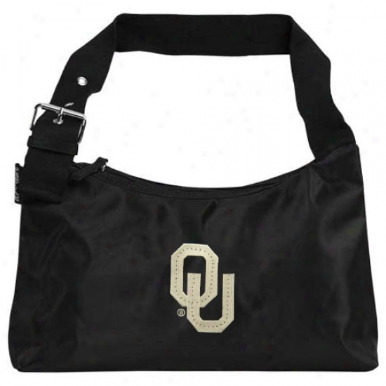 Alan Stuart Oklahoma Sooners Black Fiber Optic Projection Bag