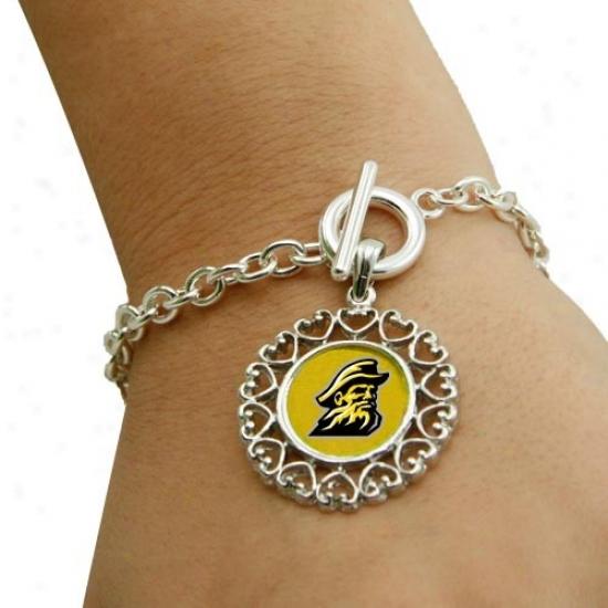 Appalachian State Mountaineers Round Heart Art Noveau-style Toggle Bracelet