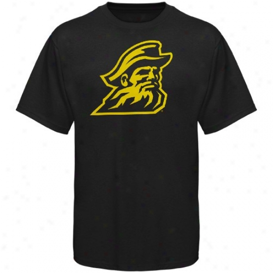 Appalachian State Mountaineers T-shirt : Appalachian State Mountaineers Black Logo One T-shirt