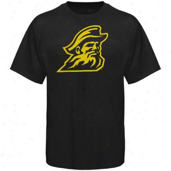 Appalachian State Mountaineers T-shirt : Appalachian State Mountaineers Black Logo One T-shirt